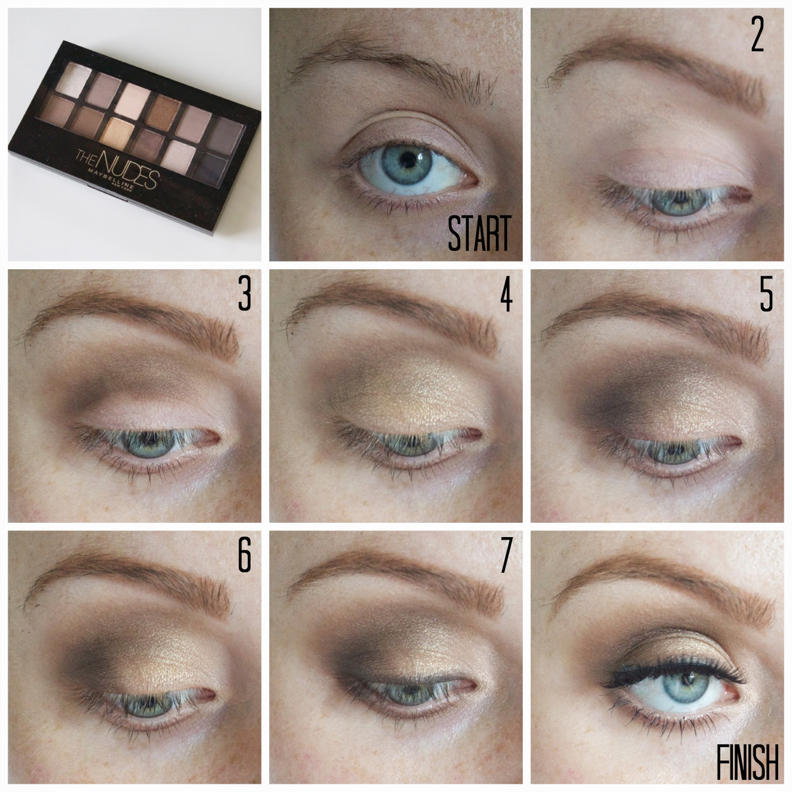 Maybelline The Nudes Palette | Review, Swatches + Eye Makeup Pictorial | www.annemariemitchell.com