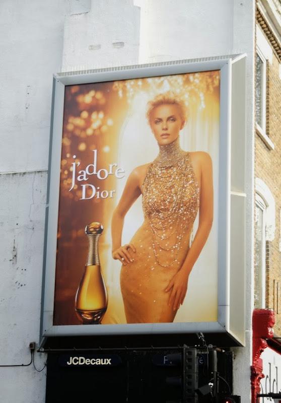 Charlize Theron Dior J'Adore perfume billboard