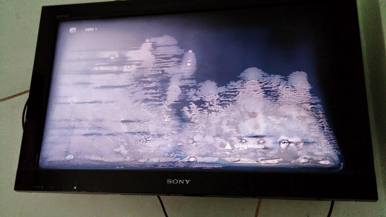 Hướng dẫn tự dán màn hình tivi bị phồng, rộp mốc