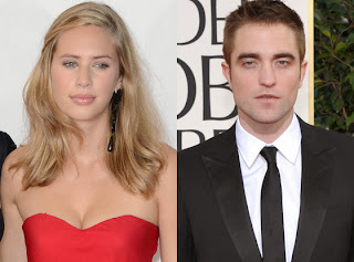 Dylan Penn and Robert Pattinson