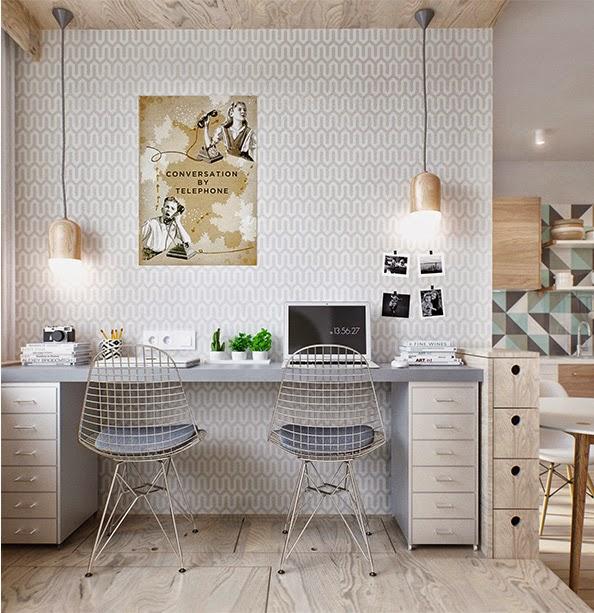 Sp cial petits espaces un studio de 40 m2 bien pens for Appartement 40m2 design