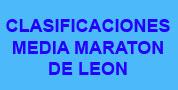 Clasificaciones Media Maraton de Leon