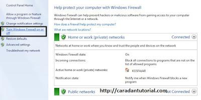 turn on firewall