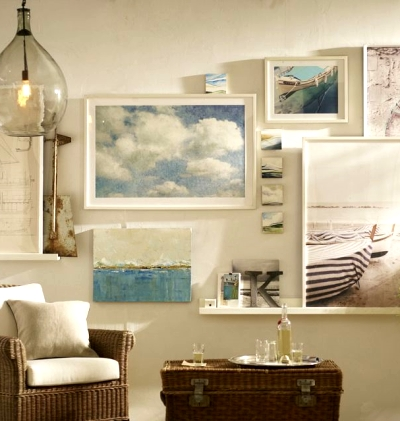 gallery wall Pottery Barn