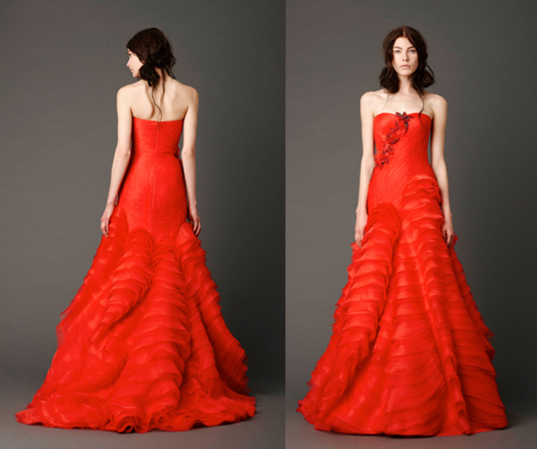 Vera Wang Red Wedding Dresses 2013