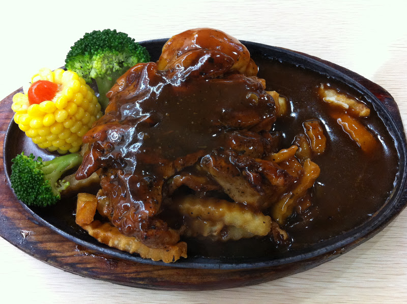 Foodiefc yilmaz western ang mo kio hotplate grilled chicken chop 6 forumfinder Choice Image