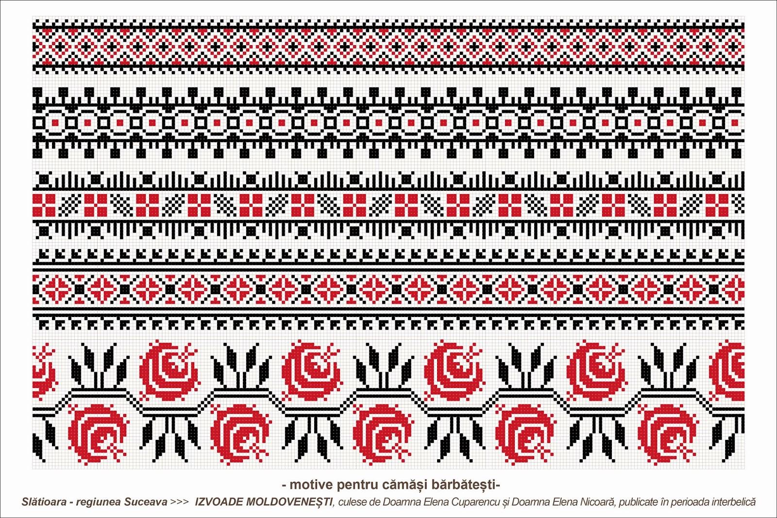 Semne Cusute Romanian Traditional Motifs Moldova Suceava Sat Slatioara