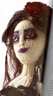 This is a wonderful quirky book - knitting punk dolls.