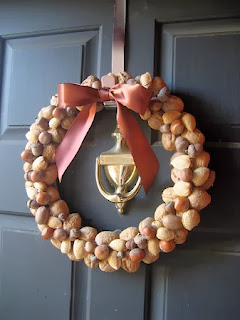 Coronas de Navidad con Frutos Secos, Materiales Naturales para Decorar