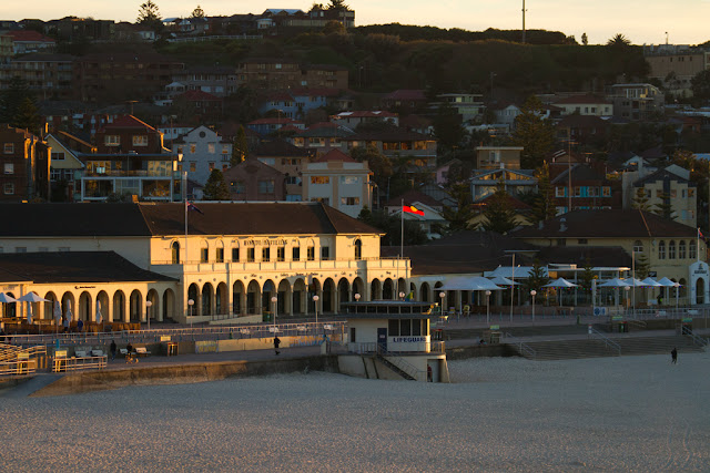 A photograph of the Bondi Pavilion in Sydney, Australia