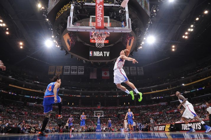 Blake Griffin alley oop Knicks