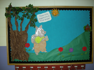 Here is another picture of a bulletin board that I have used and of