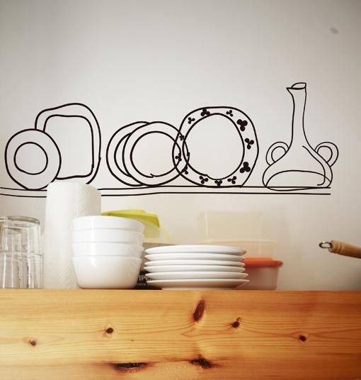 Vinilos para las paredes de tu cocina decoguia tu gu a - Vinilos decorativos comedor ...