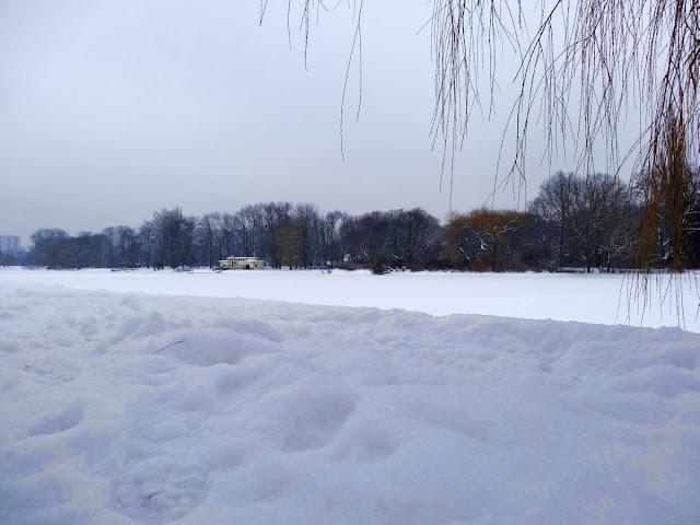 Zima w parku Skaryszewskim