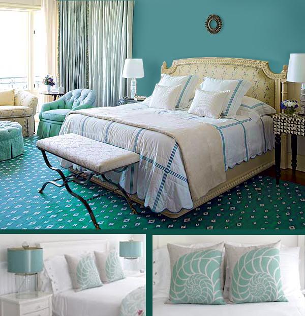 Bedroom decorating ideas turquoise Decorsart January 2012