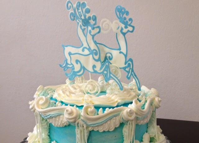 Elegant Christmas Cake Decoration : Frosted Art: Elegant Reindeer Christmas- Cake Decorating ...