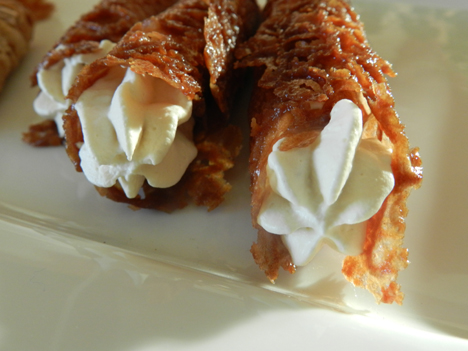 Brandy Snaps - burnt and not!