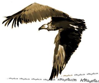 Grågam är en fågelmålning av Artmagenta