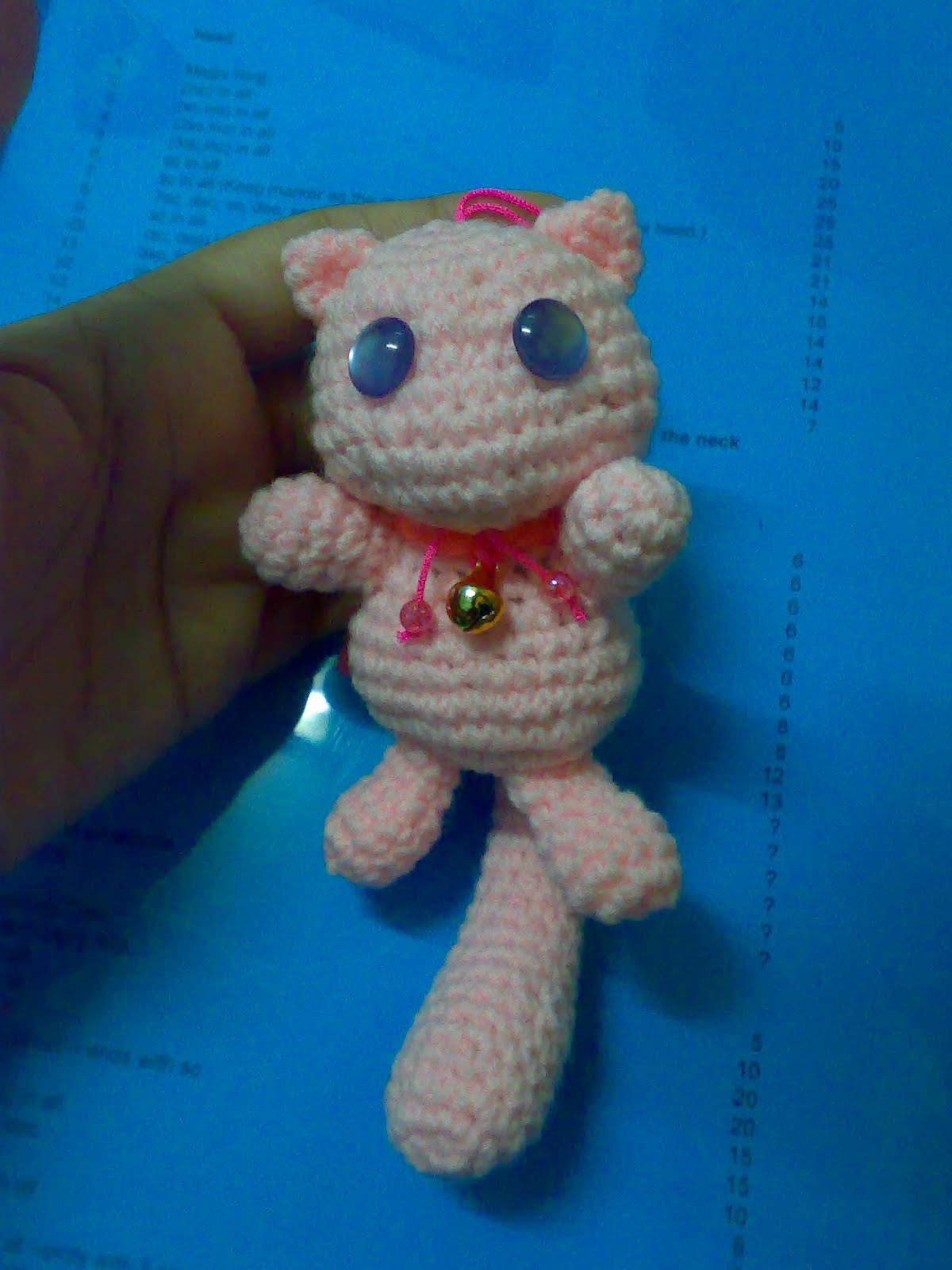 My Skills Guide: Pokemon Mew Amigurumi or so i think