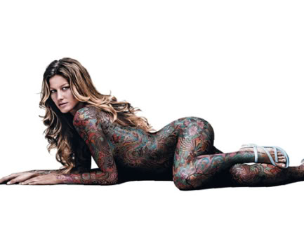 Gisele Bundchen Body Painting