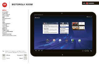 User guide MOTOROLA XOOM