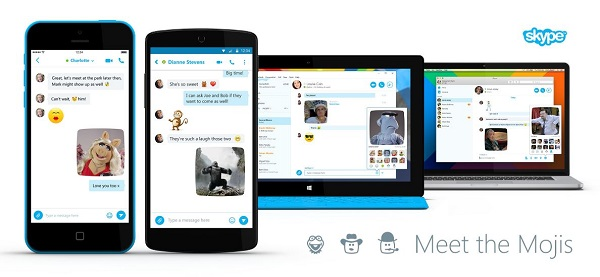 Skype update adds Mojis to Android, iOS, Mac and Windows