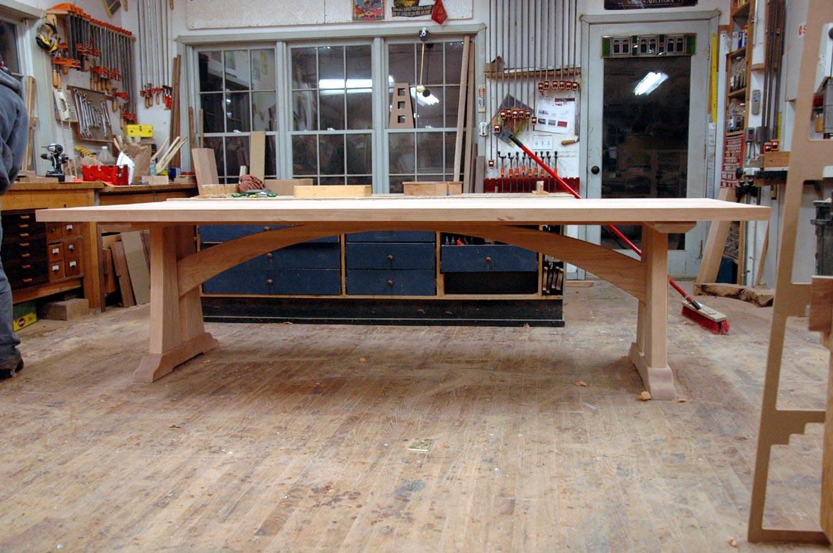 A Custom Cherry Trestle Table