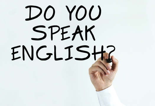 learning to speak english: