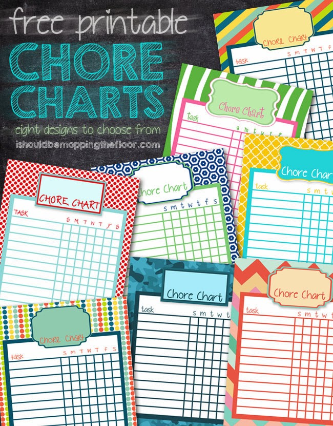I Should Be Mopping The Floor: Free Printable Chore Charts