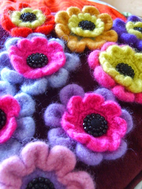 Felted flowers 2009
