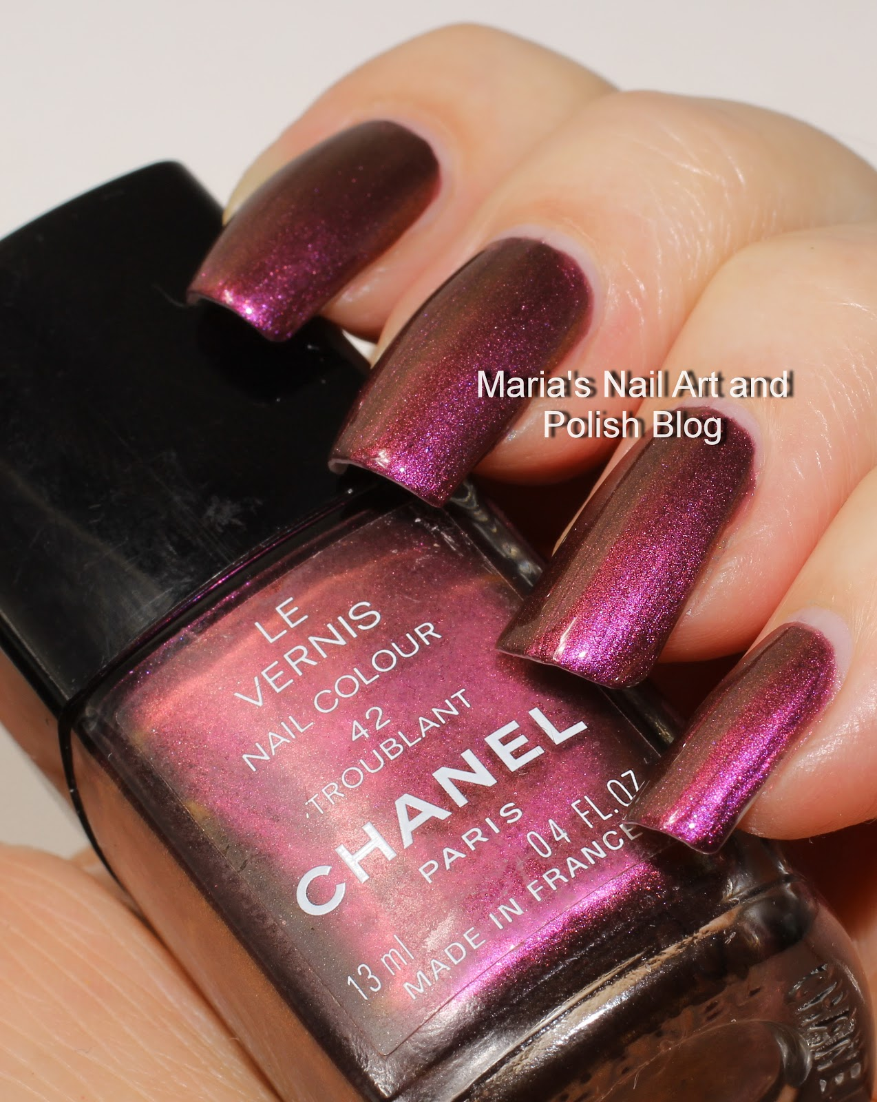Marias Nail Art and Polish Blog: Chanel Troublant 42 swatches - vintage