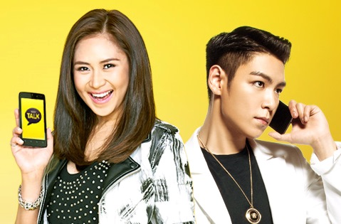 Sarah Geronimo, Top of Big Bang Collaborate for Kakao Talk