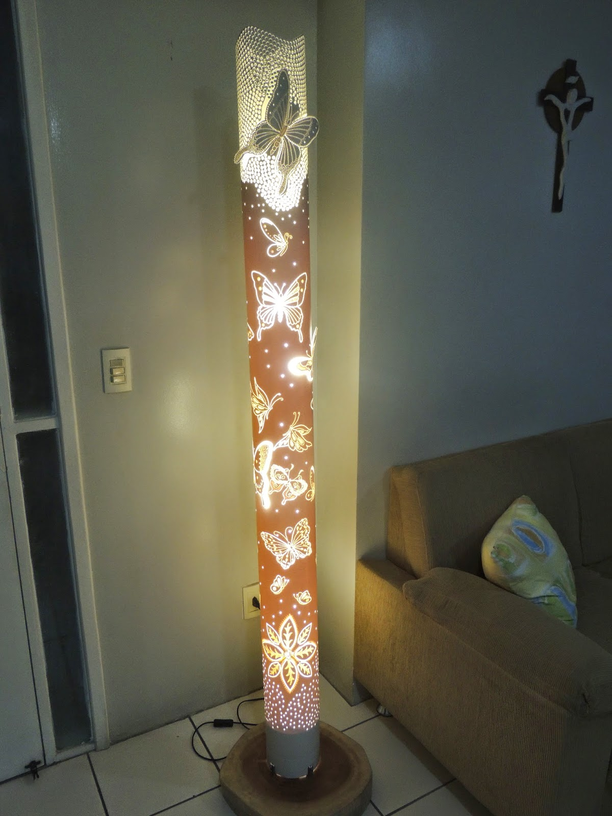 Artesanato Luminaria Pvc ~ Artes Braz Luminarias Em pvc Borboletas