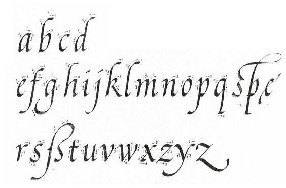 El+abecedario+en+cursiva+minuscula