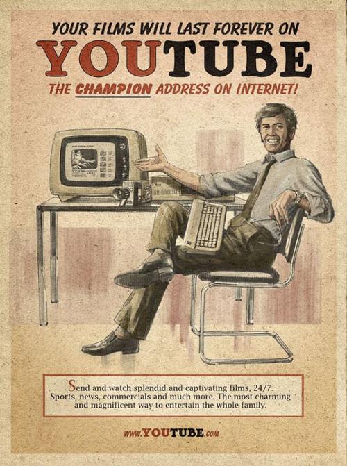 anúncios vintage - produtos modernos - You Tube