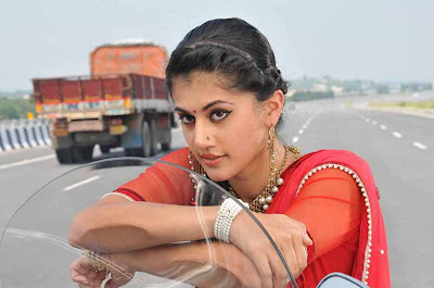 tapsee unseen in red sareepink dress hot photoshoot