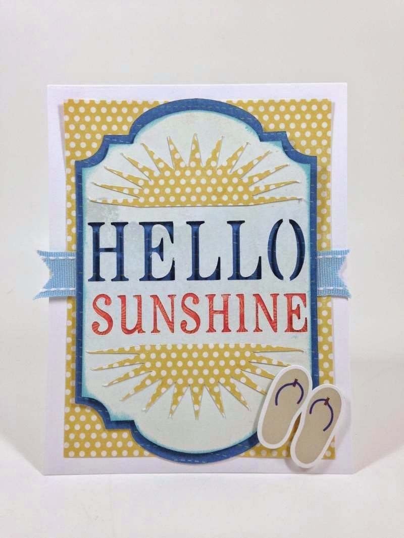 Close To My Heart Artfully Sent Hello Sunshine card