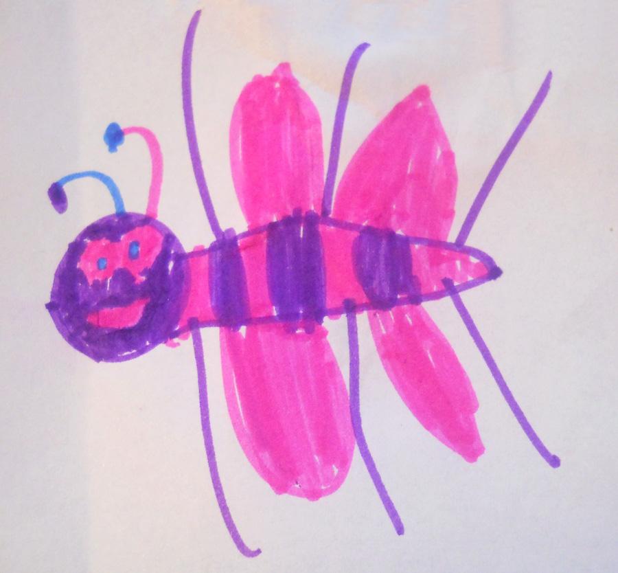 projekt maskotki owad robak robal
