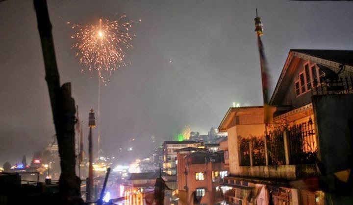 Diwali night in Darjeeling