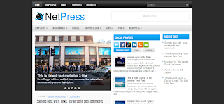 NetPress Blogger Template is a Clean Wp To Blogger Converted Blogger Template