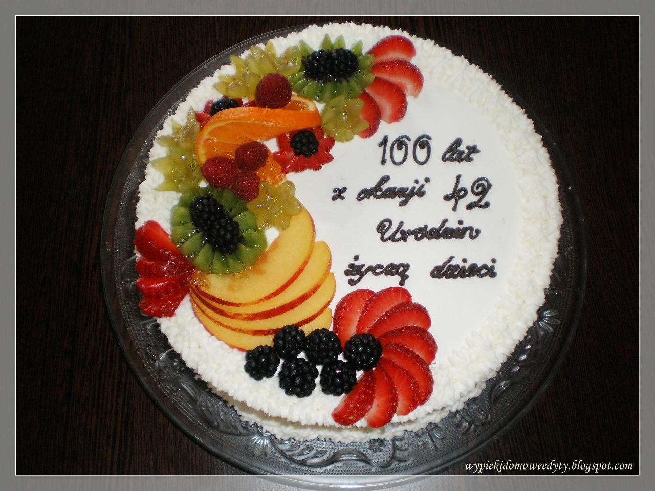 Moje Domowe Wypieki Tort Urodzinowy