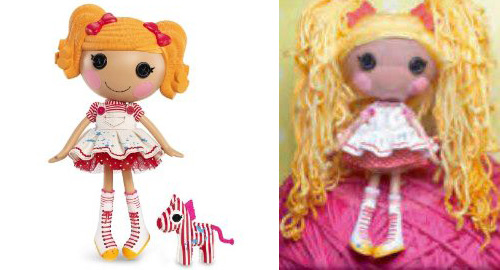lalaloopsy spot yarn hair
