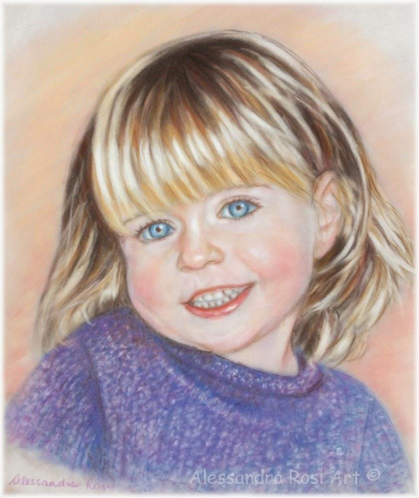 pastel portrait, children's portraiture