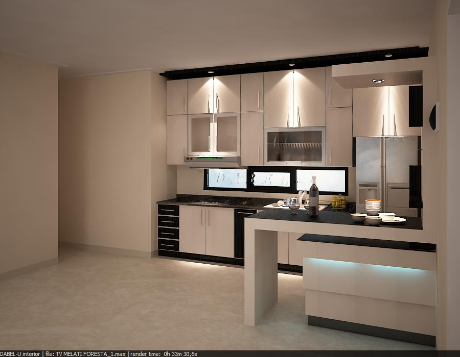 Design Kitchen Set With Minibar Mr Benny At Bukit Pesona Indah Jakarta Part 23