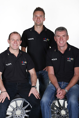 The 2013 eBay team, Rob Collard, Colin Turkington and Nick Foster
