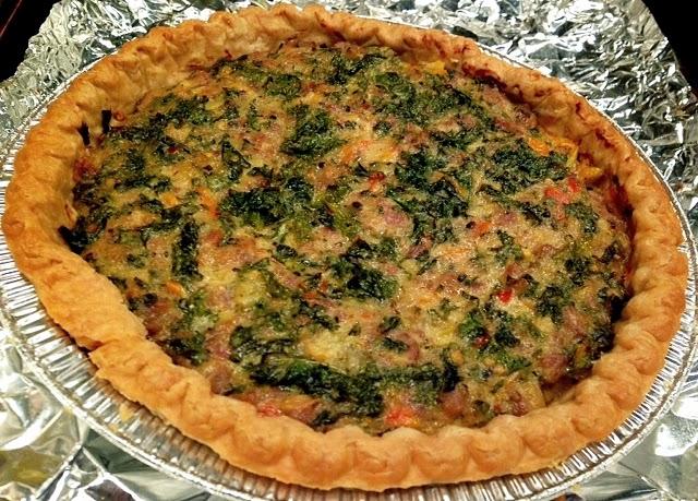 Sausage And Kale Dinner Tart Recipe — Dishmaps