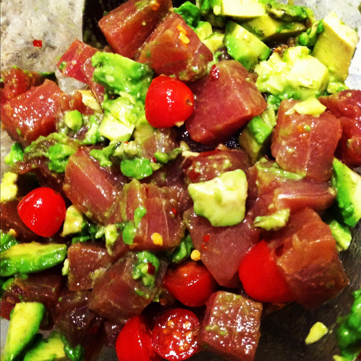 ahi poke here s the recipe ahi poke with avocado