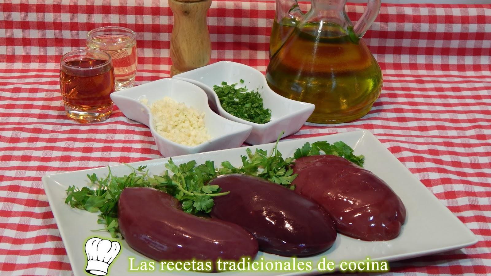 receta de riñones de cerdo
