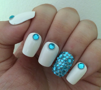 Born Pretty Store Blue Rhinestone Nail Art