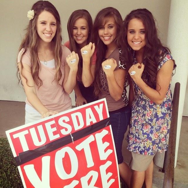 Jill, Jana, Jessa, Jinger Dugar vote